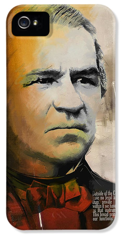 Andrew Johnson IPhone 5 Case featuring the painting Andrew Johnson by Corporate Art Task Force