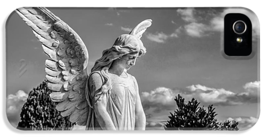 Angel IPhone 5 Case featuring the photograph Angel At The Heredia General Cemetery by Andres Leon