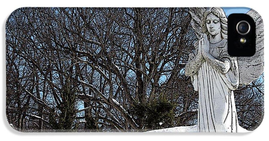 Snow IPhone 5 Case featuring the photograph Angel Of Eternal Sunshine by Teak Bird