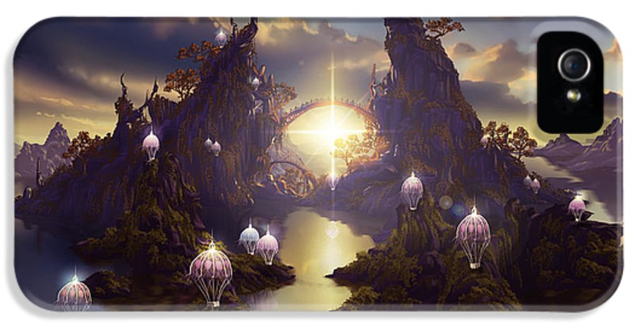 Fantasy IPhone 5 Case featuring the digital art Angels Passage by Cassiopeia Art