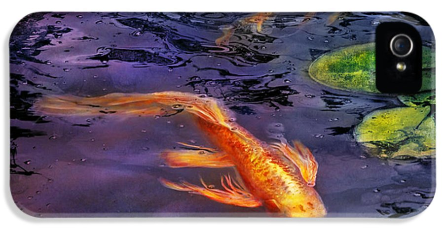 Savad IPhone 5 Case featuring the photograph Animal - Fish - There's Something About Koi by Mike Savad