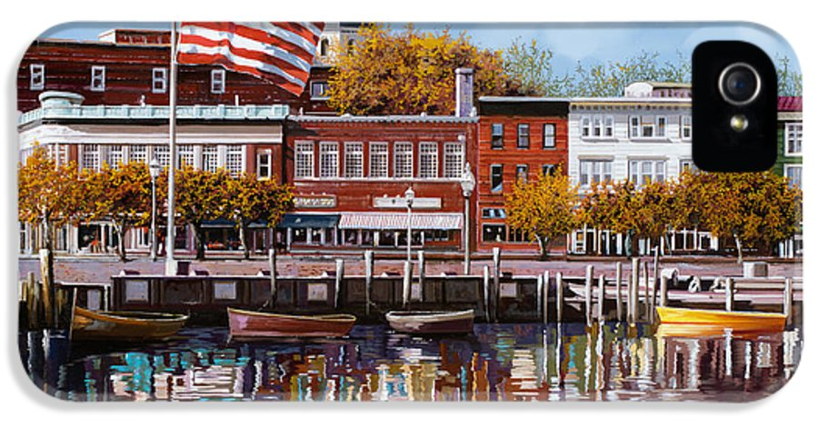 Annapolis IPhone 5 Case featuring the painting Annapolis by Guido Borelli