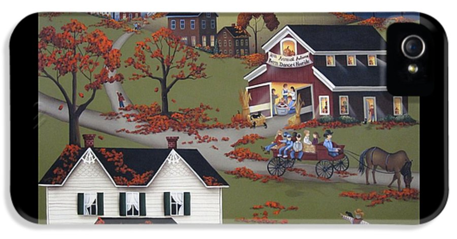 Art IPhone 5 Case featuring the painting Annual Barn Dance And Hayride by Catherine Holman