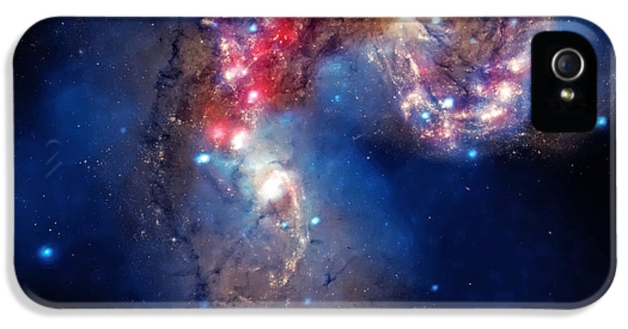 Universe IPhone 5 Case featuring the photograph Antennae Galaxies Collide 2 by Jennifer Rondinelli Reilly - Fine Art Photography
