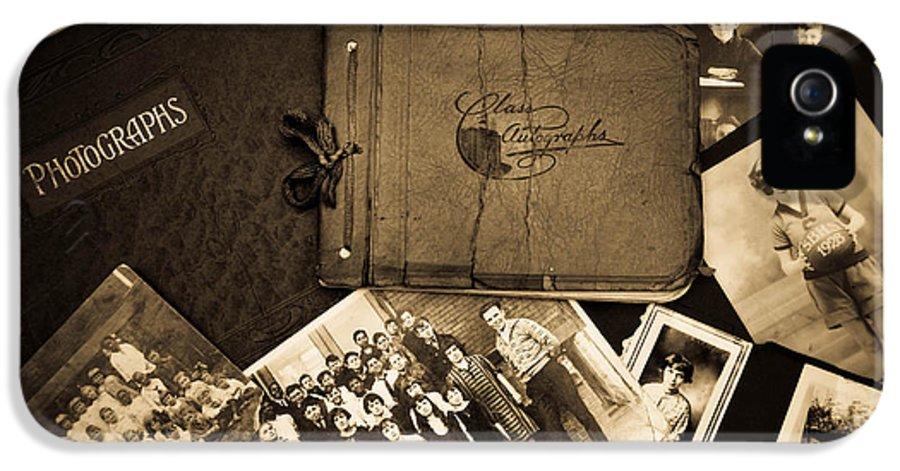Album IPhone 5 Case featuring the photograph Antique Autograph And Photo Albums And Photos by Amy Cicconi