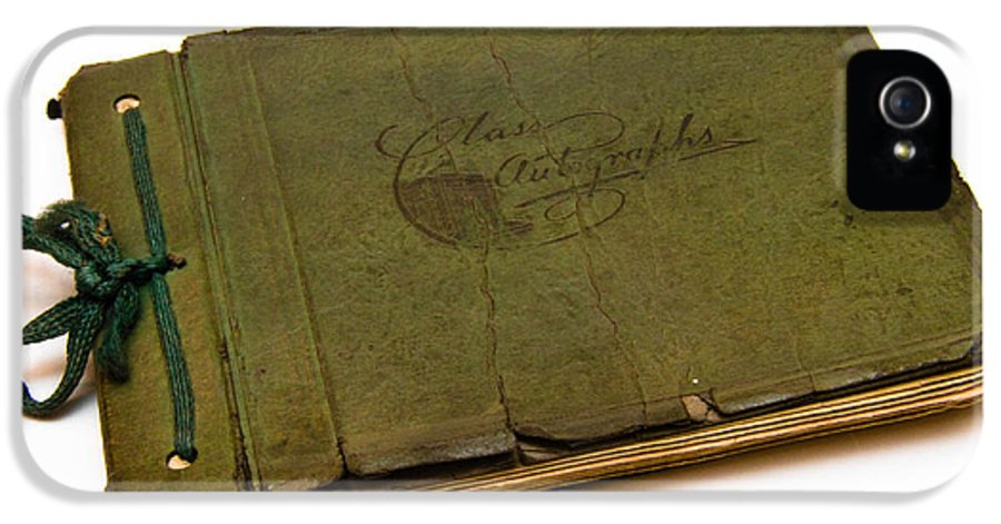 Aged IPhone 5 Case featuring the photograph Antique Autograph Book by Amy Cicconi