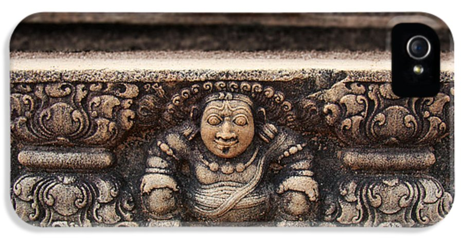 Ancient IPhone 5 Case featuring the photograph Anuradhapura Carving by Jane Rix
