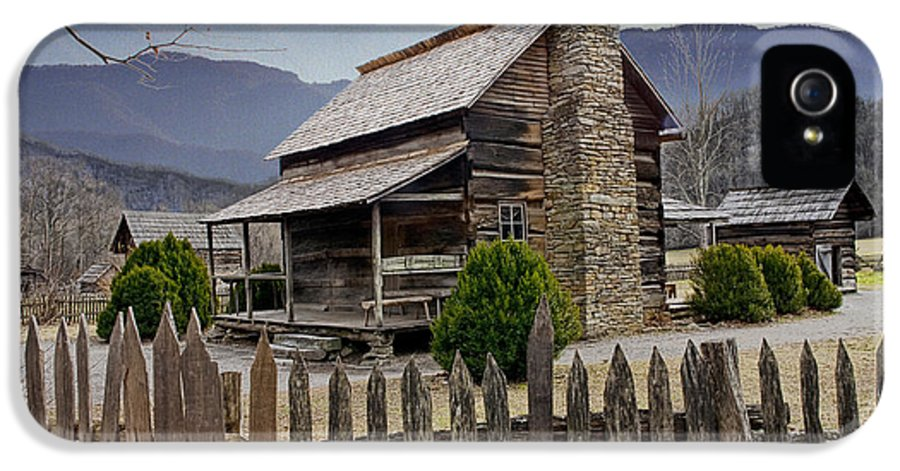 Art IPhone 5 Case featuring the photograph Appalachian Mountain Cabin by Randall Nyhof