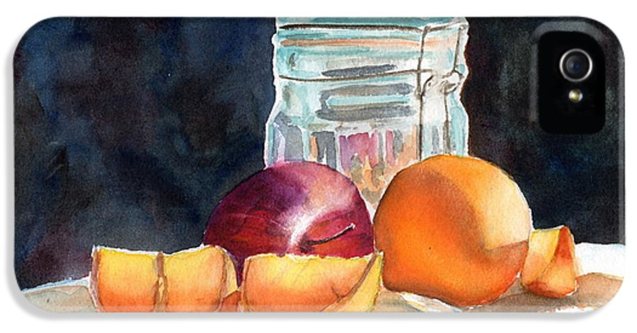 Apple IPhone 5 Case featuring the painting Apples And Oranges by Mohamed Hirji