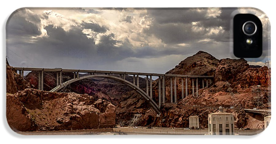 The Mike O'callaghan IPhone 5 Case featuring the photograph Arch Bridge And Hoover Dam by Robert Bales
