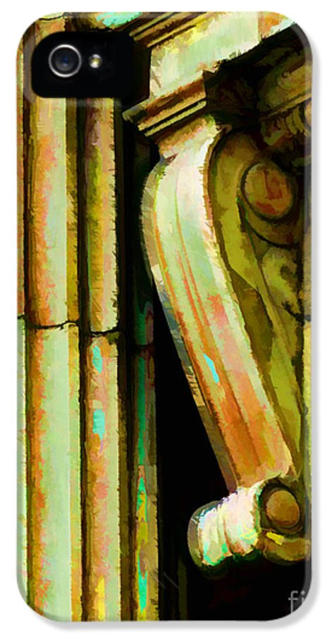 Architectural Elements IPhone 5 Case featuring the photograph Archatectural Elements Digital Paint by Debbie Portwood