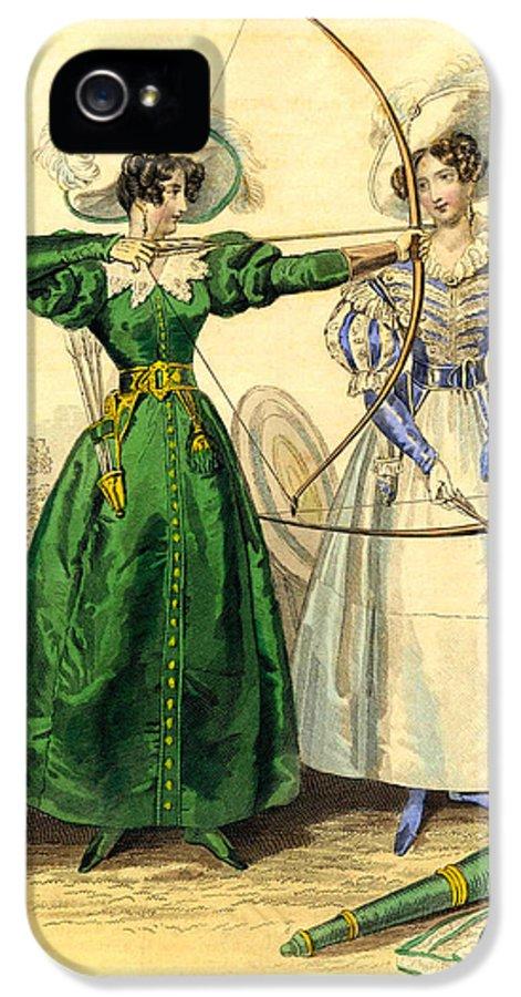 Duchess IPhone 5 Case featuring the digital art Archery Duchess by Berlaz
