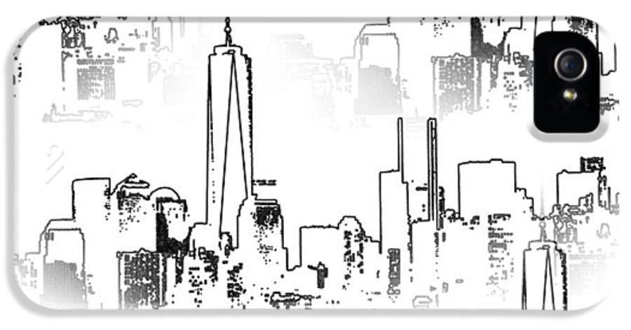 Architecture Of New York City IPhone 5 Case featuring the photograph Architecture Of New York City by Dan Sproul