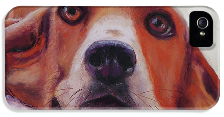 Bassett Hound IPhone 5 Case featuring the painting Are You Talking To Me by Billie Colson
