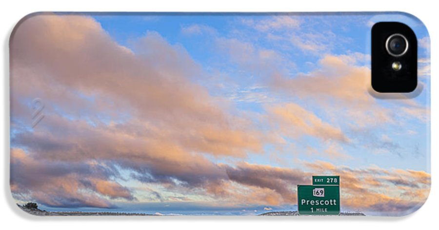 I-17 IPhone 5 Case featuring the photograph Arizona Highway Sunset by Anthony Citro