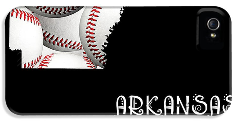 Andee Design IPhone 5 Case featuring the digital art Arkansas Loves Baseball by Andee Design