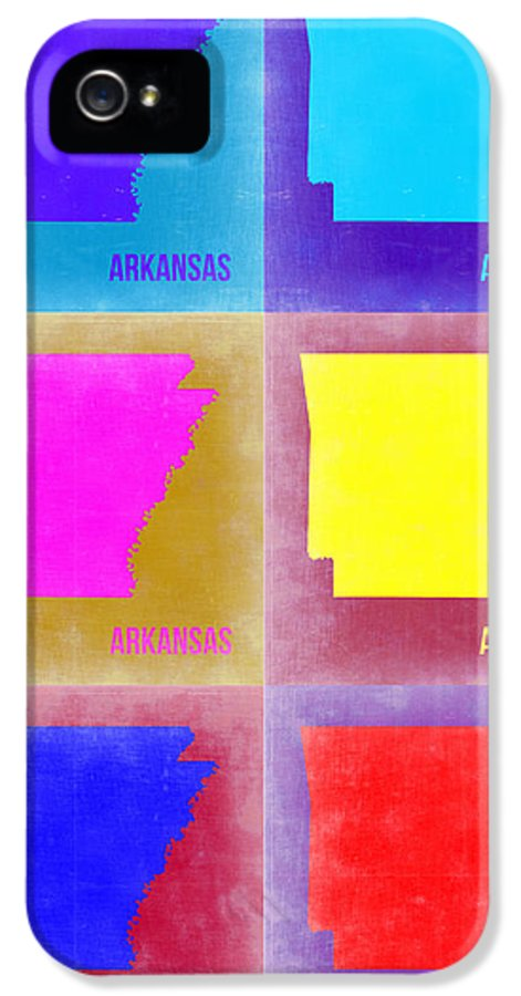 Arkansas Map IPhone 5 Case featuring the painting Arkansas Pop Art Map 2 by Naxart Studio