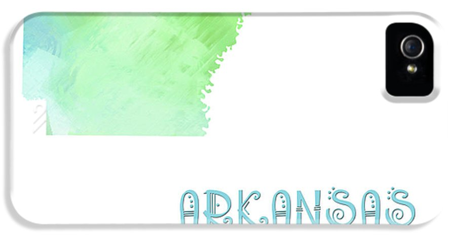 Andee Design IPhone 5 Case featuring the digital art Arkansas - The Natural State - Map - State Phrase - Geology by Andee Design