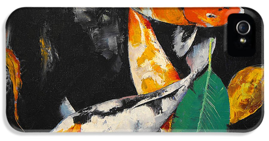 Around IPhone 5 Case featuring the painting Around And About by Michael Creese
