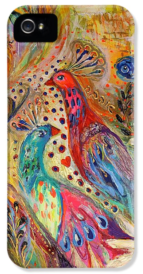 Jewish Art Prints IPhone 5 Case featuring the painting Artwork Fragment 34 by Elena Kotliarker