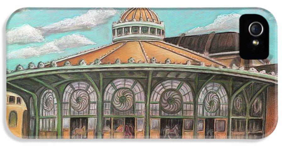 Carousel House IPhone 5 Case featuring the painting Asbury Park Carousel House by Melinda Saminski