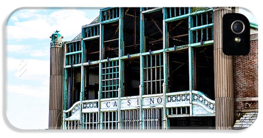 Asbury IPhone 5 Case featuring the photograph Asbury Park Casino - My City In Ruins by Bill Cannon