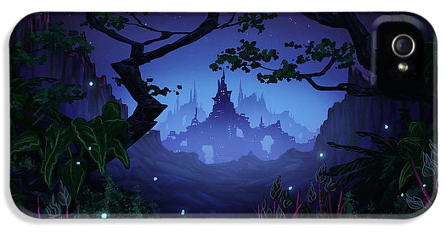 Fantasy IPhone 5 Case featuring the digital art Aspiria by Cassiopeia Art