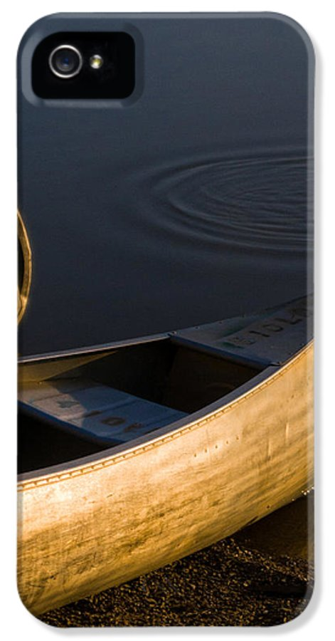 Canoe IPhone 5 Case featuring the photograph At Sunrise by Dale Kincaid