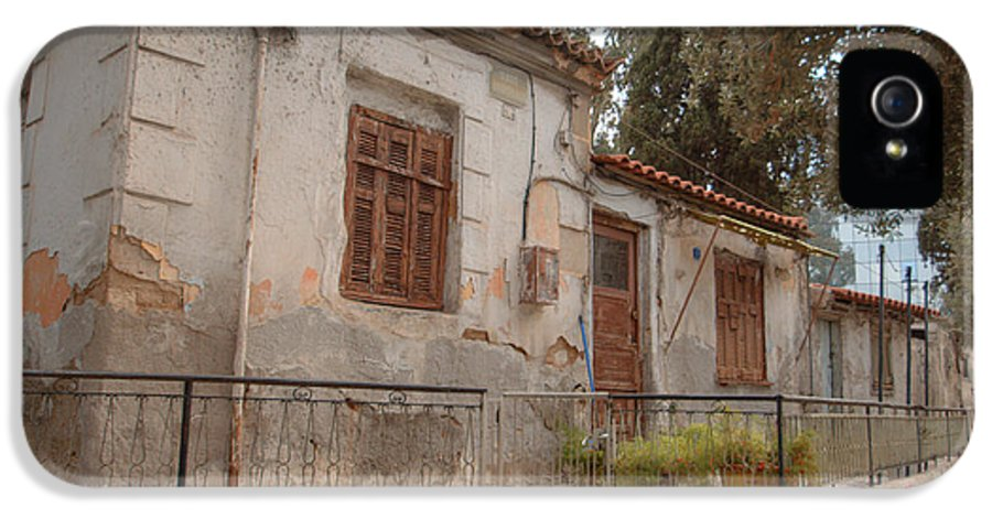 Greece IPhone 5 Case featuring the photograph Athens Street Ruin by Deborah Smolinske