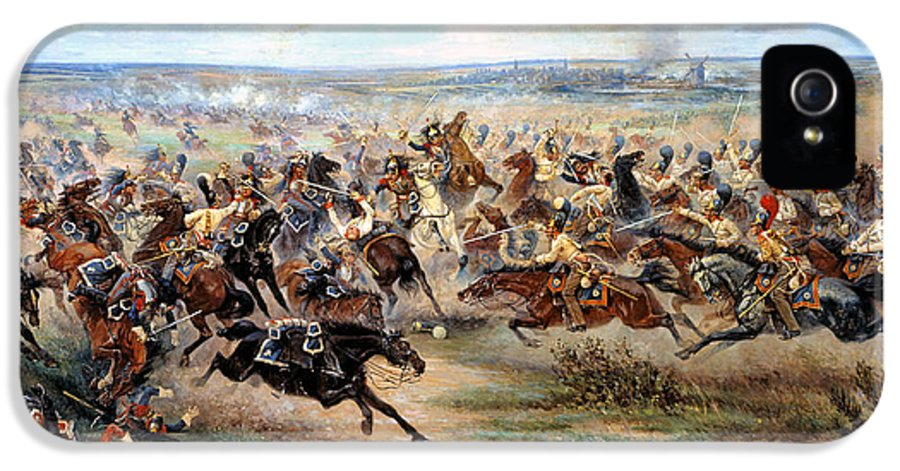 Victor Mazurovsky IPhone 5 Case featuring the digital art Attack Of The Horse Regiment by Victor Mazurovsky