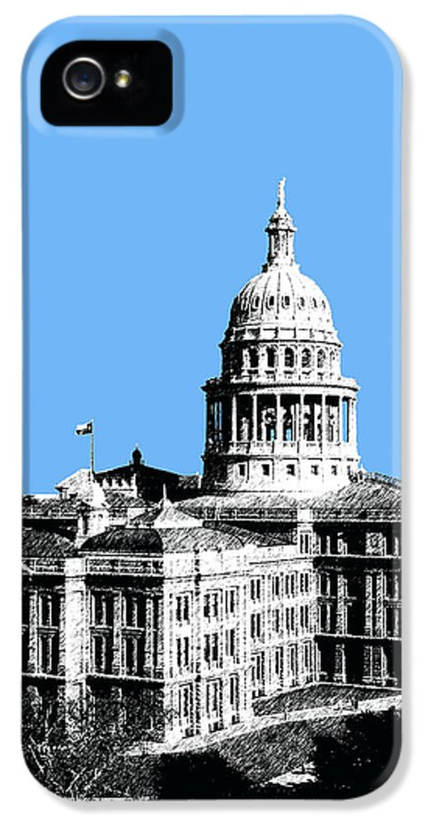 Architecture IPhone 5 Case featuring the digital art Austin Texas Capital - Sky Blue by DB Artist