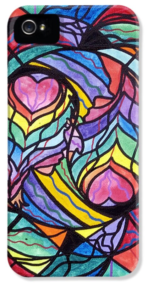 Authentic Relationship IPhone 5 Case featuring the painting Authentic Relationship by Teal Eye Print Store