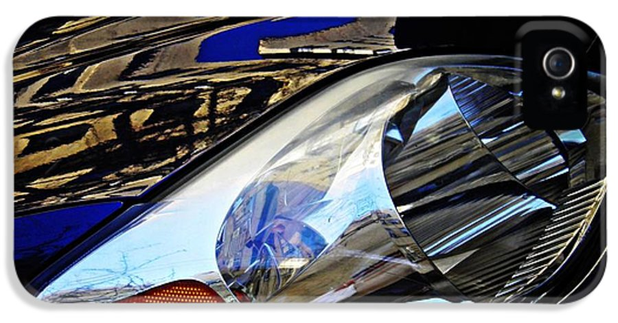 Glass IPhone 5 Case featuring the photograph Auto Headlight 113 by Sarah Loft