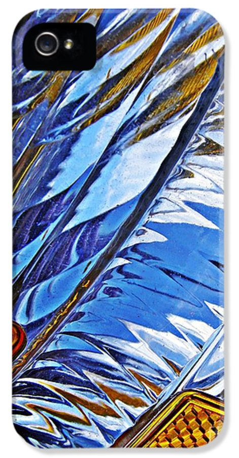 Glass IPhone 5 Case featuring the photograph Auto Headlight 29 by Sarah Loft