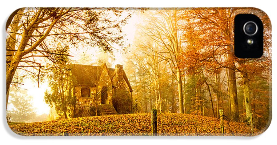 Appalachia IPhone 5 Case featuring the photograph Autumn Cottage by Debra and Dave Vanderlaan