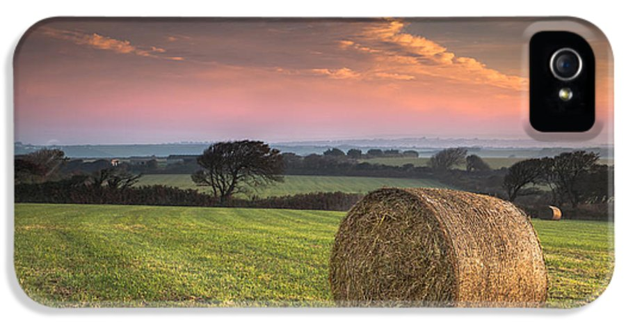 Landscape IPhone 5 Case featuring the photograph Autumn In Cornwall by Christine Smart