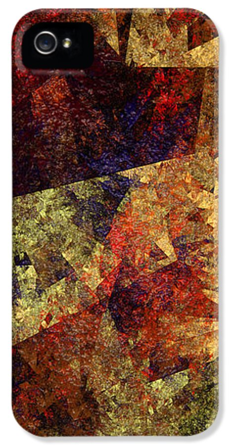 Abstract IPhone 5 Case featuring the digital art Autumn Road by Andee Design