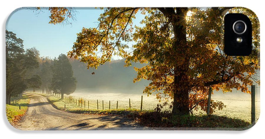 Fog IPhone 5 Case featuring the photograph Autumn Road by Bill Wakeley