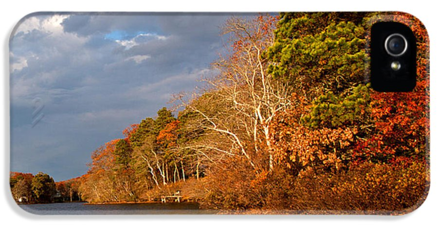 Autumn Storm Approaching IPhone 5 Case featuring the photograph Autumn Storm Approaching by Michelle Wiarda