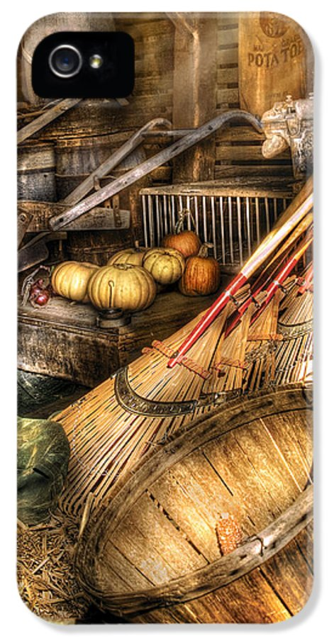 Savad IPhone 5 Case featuring the photograph Autumn - This Years Harvest by Mike Savad