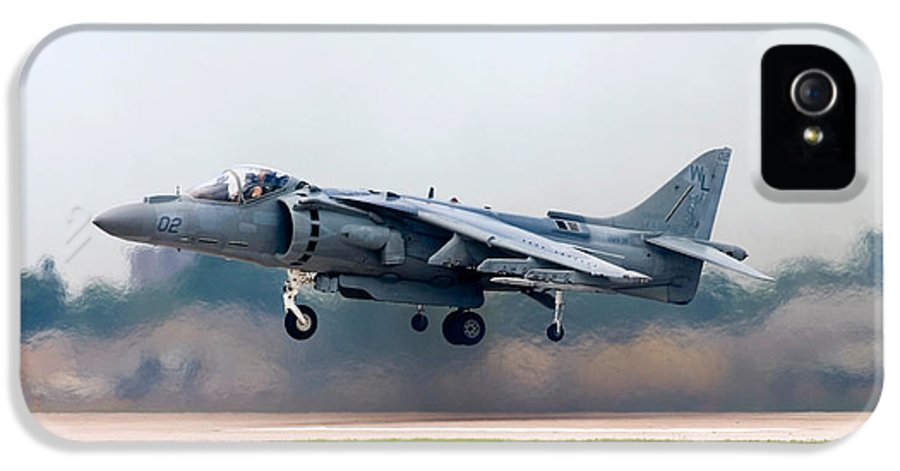 3scape IPhone 5 Case featuring the photograph Av-8b Harrier by Adam Romanowicz