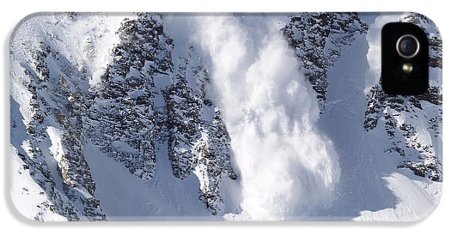 Snow IPhone 5 Case featuring the photograph Avalanche I by Bill Gallagher