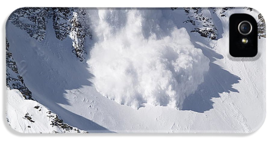 Snow IPhone 5 Case featuring the photograph Avalanche II by Bill Gallagher