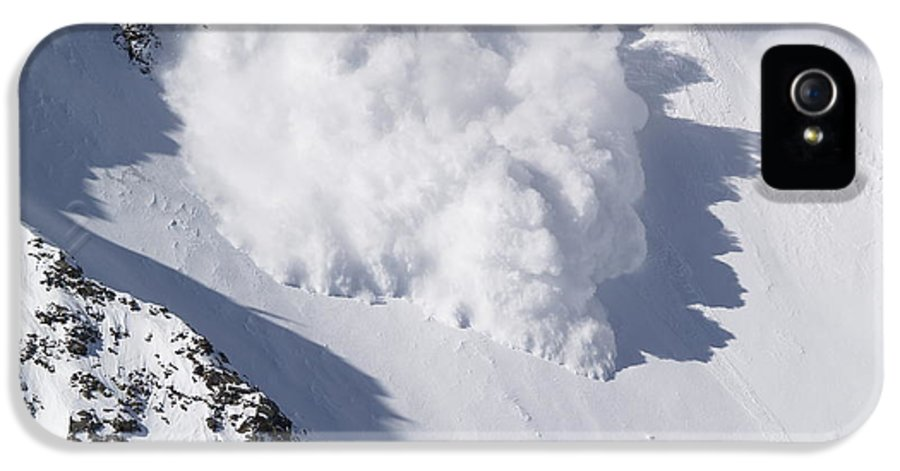 Snow IPhone 5 Case featuring the photograph Avalanche IIi by Bill Gallagher
