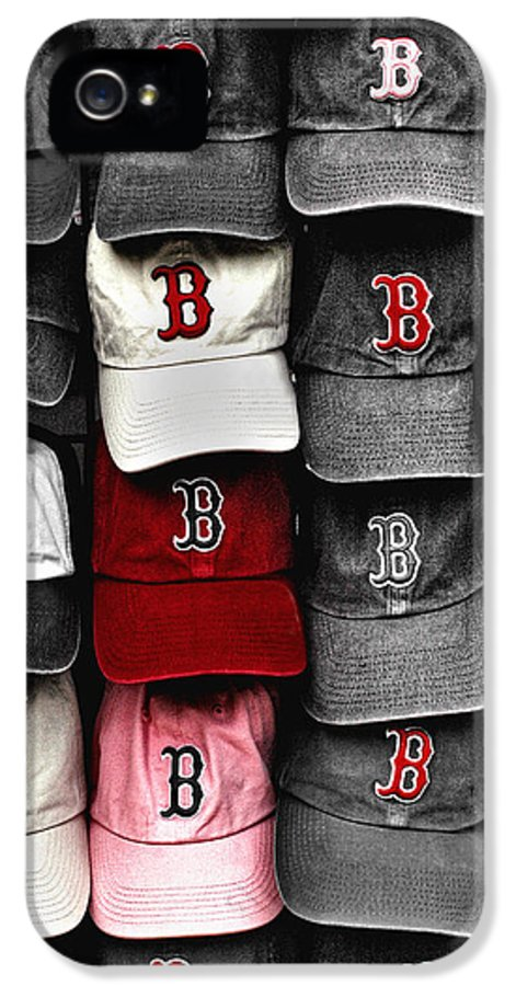 Boston IPhone 5 Case featuring the photograph B For Bosox by Joann Vitali