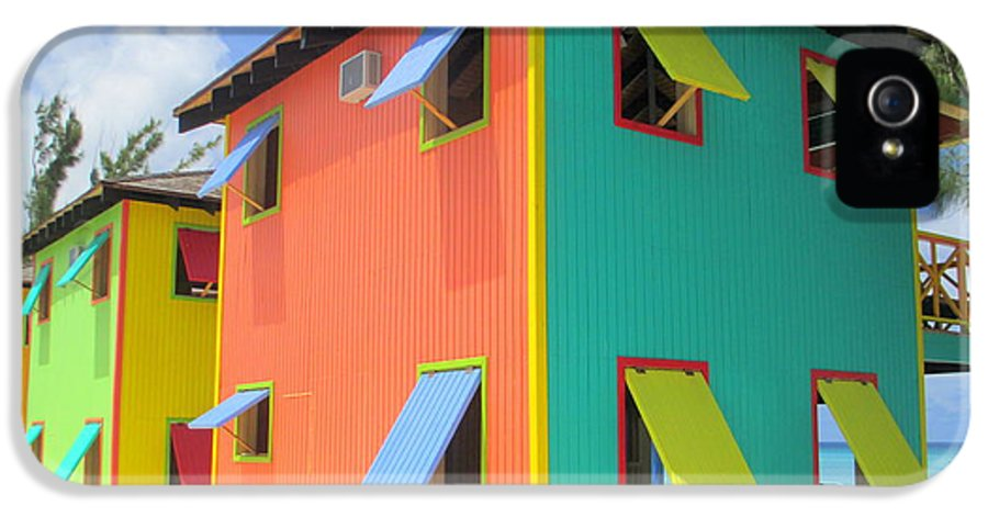 Caribbean Corner IPhone 5 / 5s Case featuring the photograph Back Of Cabins 1 by Randall Weidner