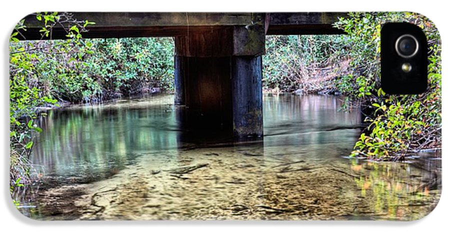 Back Water River IPhone 5 Case featuring the photograph Back Water River Bridge by JC Findley