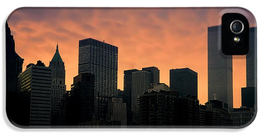 New York City IPhone 5 Case featuring the photograph Backlit by Joann Vitali