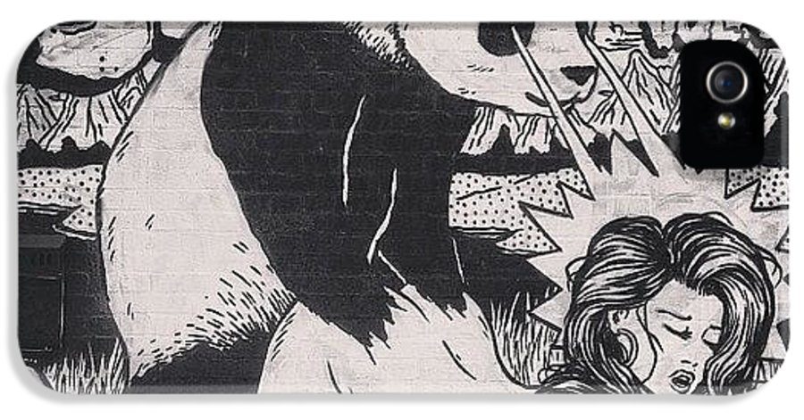 Brokenfingazcrew IPhone 5 Case Featuring The Photograph Badass Panda Graffiti Streetart By