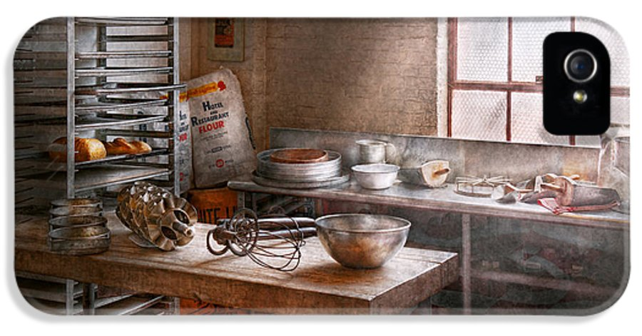 Baker IPhone 5 Case featuring the photograph Baker - Kitchen - The Commercial Bakery by Mike Savad